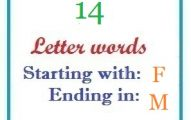 Fourteen letter words starting with F and ending in M
