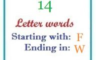 Fourteen letter words starting with F and ending in W