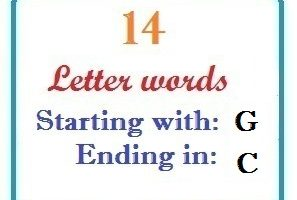 Fourteen letter words starting with G and ending in C