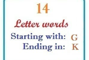 Fourteen letter words starting with G and ending in K