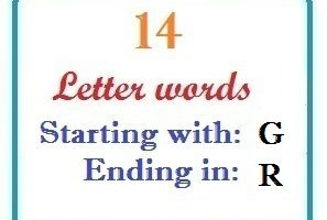 Fourteen letter words starting with G and ending in R