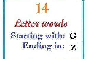 Fourteen letter words starting with G and ending in Z