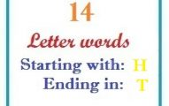 Fourteen letter words starting with H and ending in T