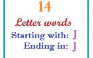 Fourteen letter words starting with J and ending in J