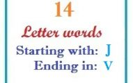 Fourteen letter words starting with J and ending in V