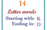 Fourteen letter words starting with K and ending in D