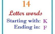 Fourteen letter words starting with K and ending in F
