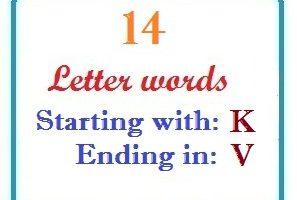 Fourteen letter words starting with K and ending in V