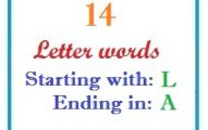 Fourteen letter words starting with L and ending in A
