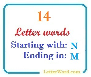 Fourteen letter words starting with N and ending in M