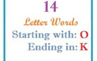 Fourteen letter words starting with O and ending in K