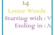 Fourteen letter words starting with V and ending in A