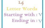 Fourteen letter words starting with V and ending in V