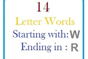 Fourteen letter words starting with W and ending in R