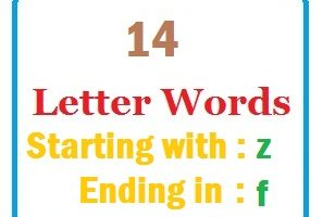 Fourteen letter words starting with Z and ending in F